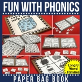 Rhyming  and Spelling Words with Long U Paper Bag Book
