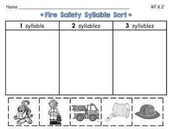 Rhyming and Syllable Sorting Pages