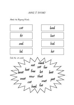 Rhyming - beginners (-at)