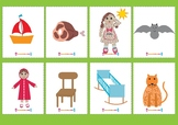 Rhyming cards - set one- to be used in conjunction with Rh