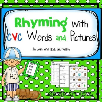 Rhyming cvc Pictures and Words