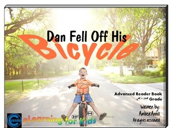 Rhyming ebook Dan Fell Off His Bicycle with companion book report pages
