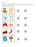 Rhyming match puzzle plus 3 follow-up worksheets! Pre-K and K