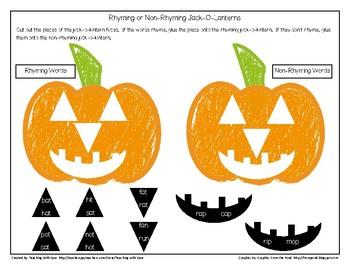 Rhyming or Non-Rhyming Jack-O-Lanterns