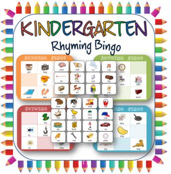 Rhyming pairs bingo for kids