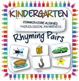 Rhyming pairs game for Kindergarten