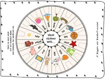 Rhyming pin wheel