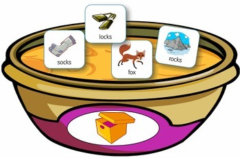Rhyming soup game for Kindergarten