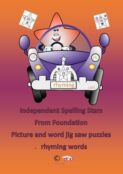 Rhyming - stars in cars jig saw puzzles for reading and saying