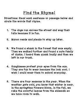 Rhyming, synonym, antonym practice