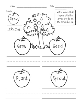 Rhyming with Apples