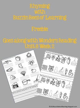 Rhyming with Buzzin Bees of Learning *Freebie*
