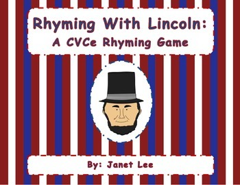 Rhyming with Lincoln {A CVCe Matching Game}