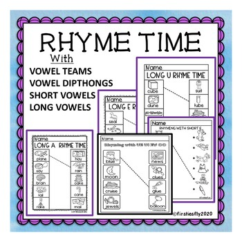 Rhyming with SHORT and LONG VOWELS, DIPTHONGS AND DIGRAPHS