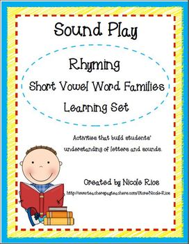 Rhyming with Short Vowel Word Families Learning Set