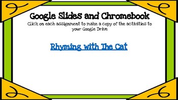 Rhyming with The Cat ( Dr Suess Inspired)-A Digital Literacy Center