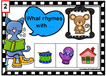 Rhyming with the Cat Power Point Game