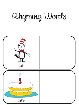 Rhyming with the Cat - English and Spanish