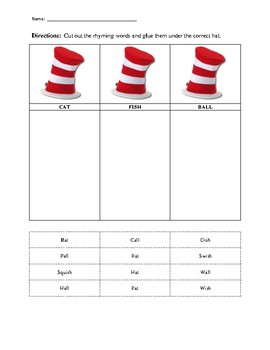 Rhyming with the Cat in the Hat