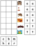 Rhyming word families at, am, ap, an ESL pictures cut paste kindergarten CENTER