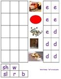 Rhyming word families ed, en, et ESL pictures cut paste kindergarten