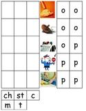 Rhyming word families op, ot, og ESL pictures cut paste COMMON CORE center