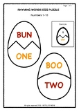 Rhyming words Egg Puzzle Game