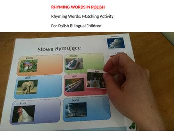 Rhyming words: Rhyming activity for bilingual children in POLISH