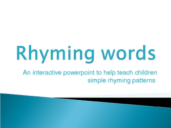 Rhyming words fun