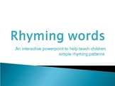 Rhyming words fun