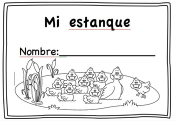 Rhyming words in Spanish activity: Duck theme