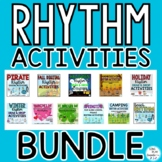 Rhythm Activities School Year Bundle:  Presentations, Vide