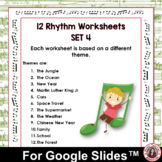 Music Distance Learning Rhythm Activity Sheets for use wit