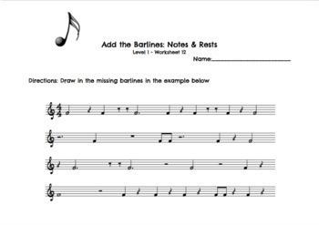 Rhythm Worksheets Level 1