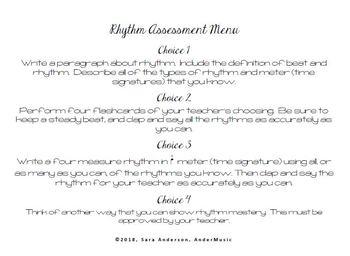 Rhythm Assessment Pack