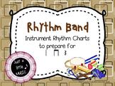 Rhythm Band--Instrument Rhythm Charts preparing for ta, titi, and rest
