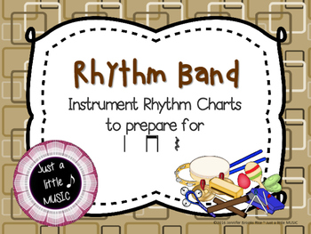 Rhythm Band--Instrument Rhythm Charts preparing for ta, titi, and rest