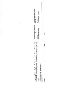 Rhythm Baseball Pattern Assessment