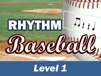 Rhythm Baseball PowerPoint Game for Music Class Level 1