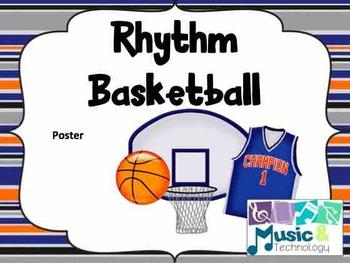 Rhythm Basketball Scoreboard Poster
