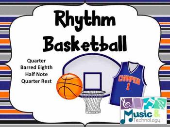 Rhythm Basketball (with half notes)- (PowerPoint/Keynote)