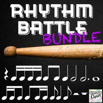 Rhythm Battle Bundle: projectable rhythm flash cards