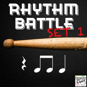 Rhythm Battle Set 1: projectable rhythm flash cards