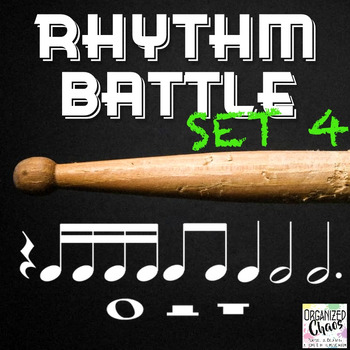 Rhythm Battle Set 4: projectable rhythm flash cards
