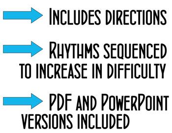 Rhythm Battle Set 5: projectable rhythm flash cards