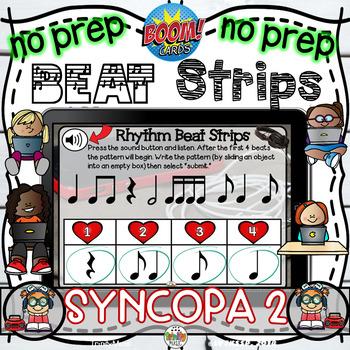 Rhythm Beat Strips (Syncopa)  - Boom Digital Task Cards
