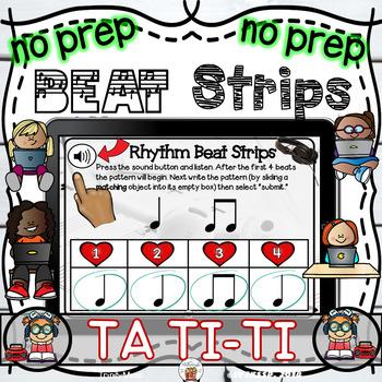 Rhythm Beat Strips (Ta and Ti-Ti)  - Boom Digital Task Cards