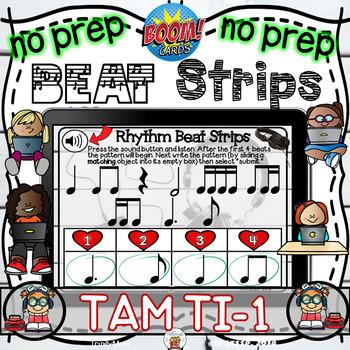 Rhythm Beat Strips (Tam Ti 1)  - Boom Digital Task Cards