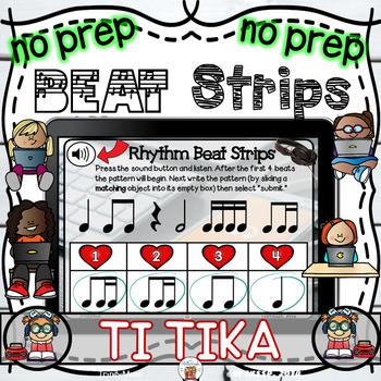 Rhythm Beat Strips (Ti Tika)  - Boom Digital Task Cards