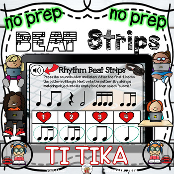 Rhythm Beat Strips (Ti Tika)  - Boom Digital Task Cards